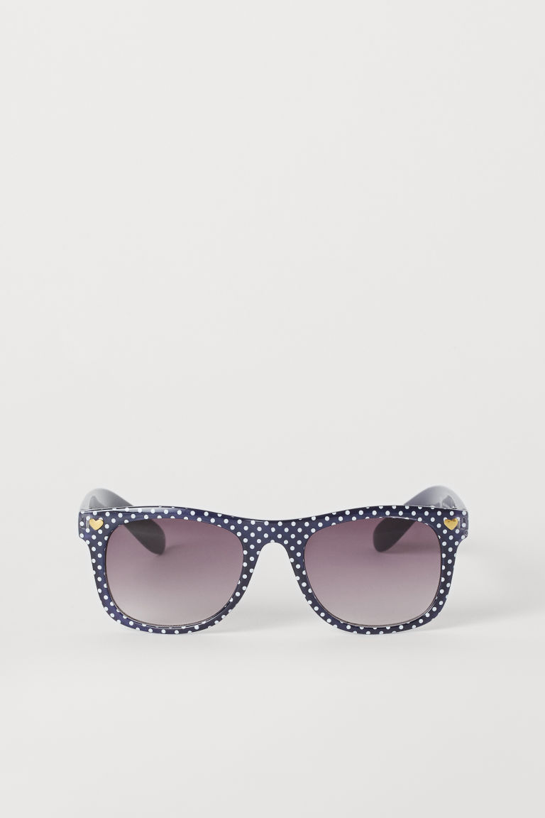 Sunglasses - Dark blue/Spotted - Kids | H&M GB