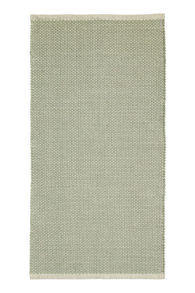 Patterned cotton rug - Natural white/Light green - Home All | H&M CN