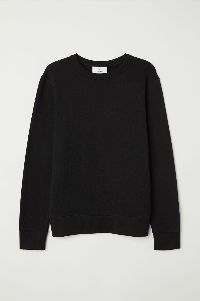 59b1cecdc Silk-blend Sweatshirt - Black - Men   H&M ...