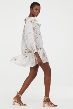 7c039749e7fb Flounced Dress.  19.99. New Arrival. White floral