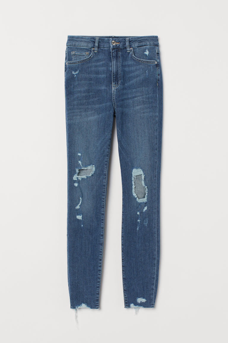 Embrace High Ankle Jeans - Licht denimblauw/trashed - DAMES | H&M NL