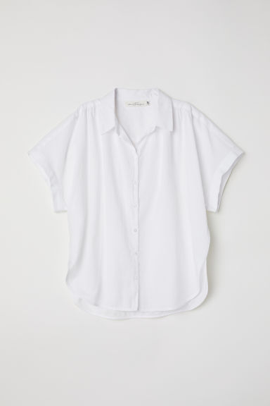 Wide blouse - White -  | H&M IE