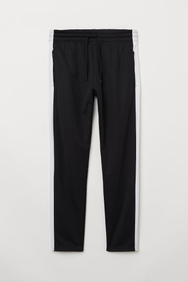 Sports Pants - Black/white - Men | H&M CA