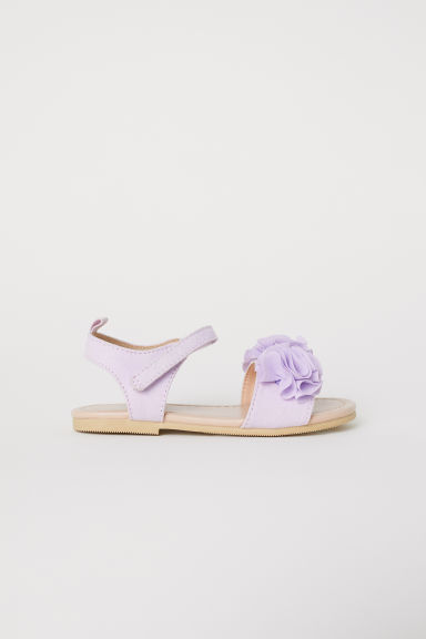 Appliquéd sandals - Light purple -  | H&M