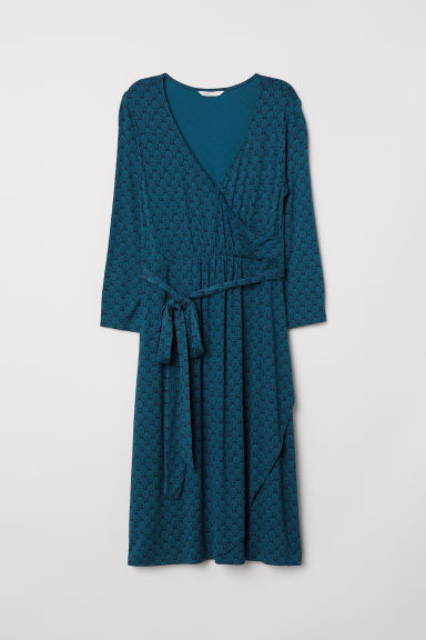 MAMA Wrap dress - Dark turquoise/Patterned - Ladies | H&M