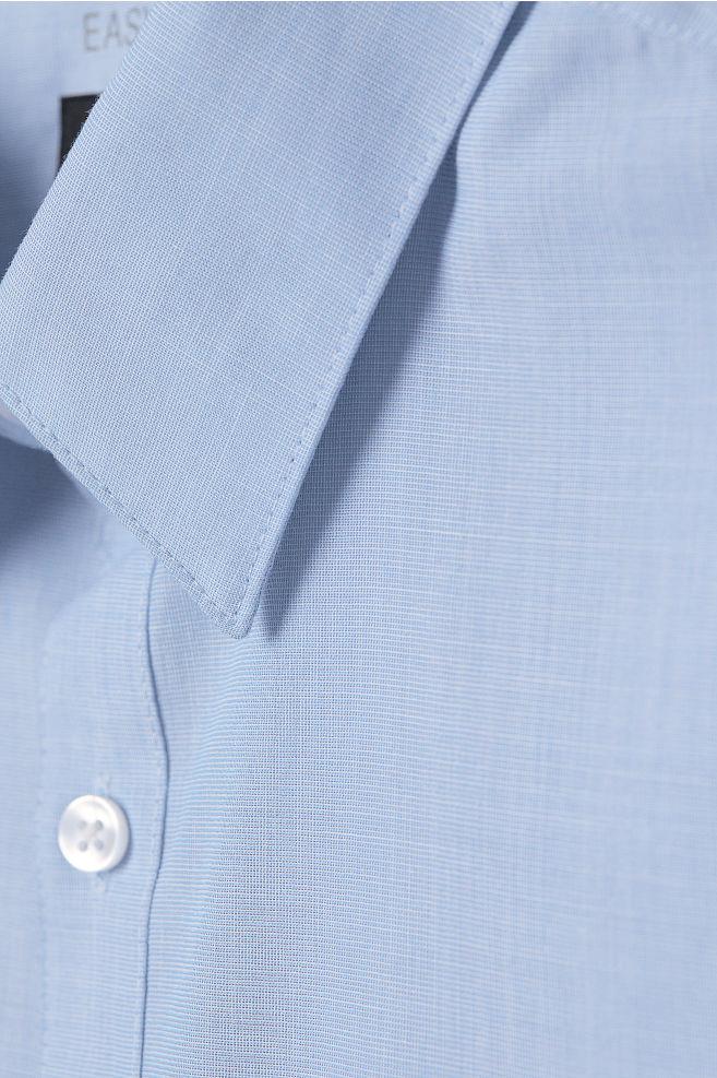 Easy Iron Shirt Slim Fit Blue Chambray Men H M Us