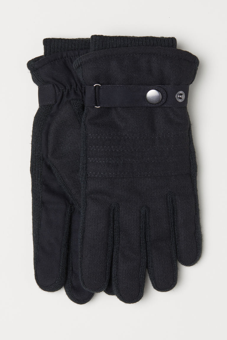 Wool-blend gloves - Black -  | H&M CN