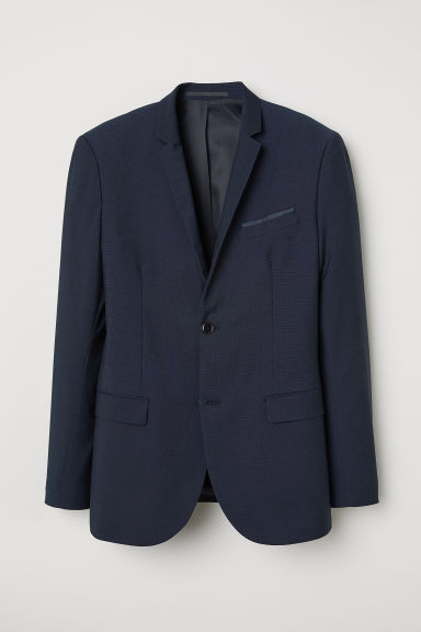 Jacket Slim fit - Dark blue marl - Men | H&M CN