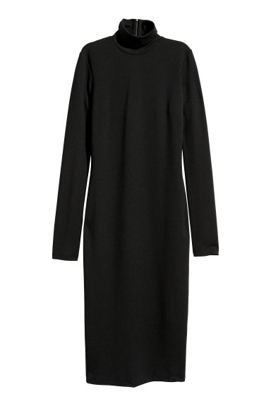 Polo-neck dress - Black -  | H&M IE