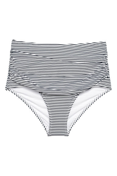 H&M+ Bikini bottoms High waist - White/Blue striped -  | H&M