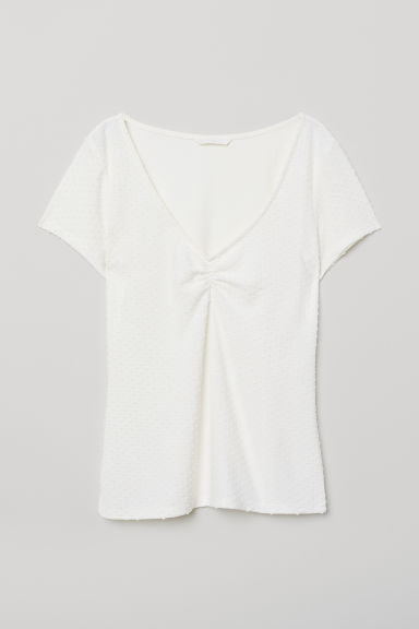 Top plumetis - Crema - DONNA | H&M IT