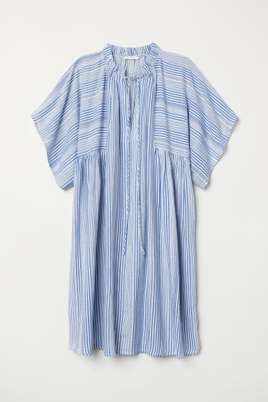 Patterned dress - Blue/White striped - Ladies | H&M IN