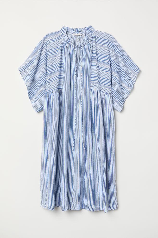 Mintás ruha - Kék fehér csíkos - NŐI  98c0c1f870