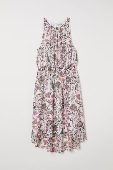 Sleeveless dress - White/Floral - Ladies | H&M