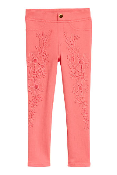 Jersey treggings - Coral -  | H&M