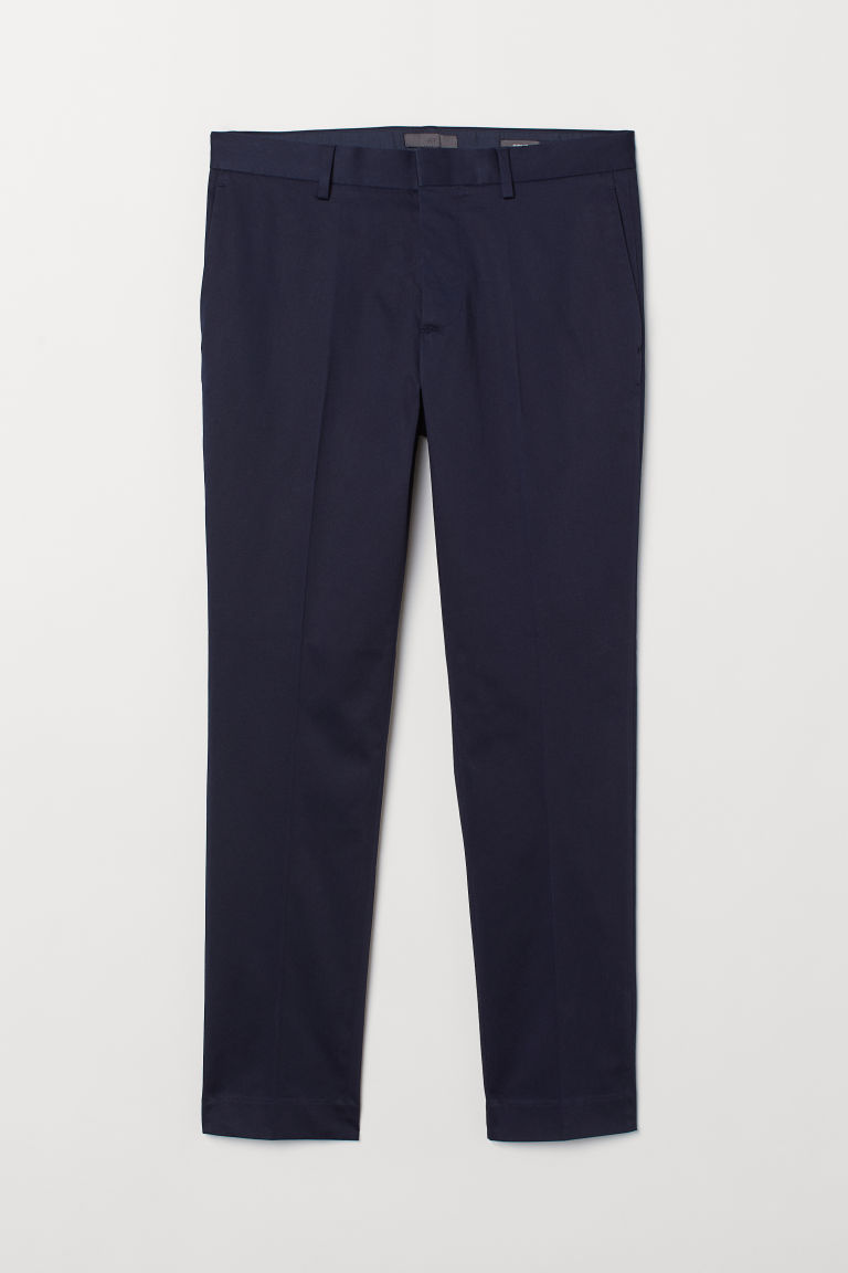 Suit trousers Skinny Fit - Dark blue -  | H&M