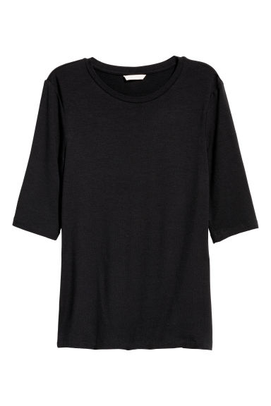 Lyocell top - Black - Ladies | H&M CN