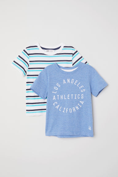 2-pack T-shirts - Blue marl/Los Angeles -  | H&M CN