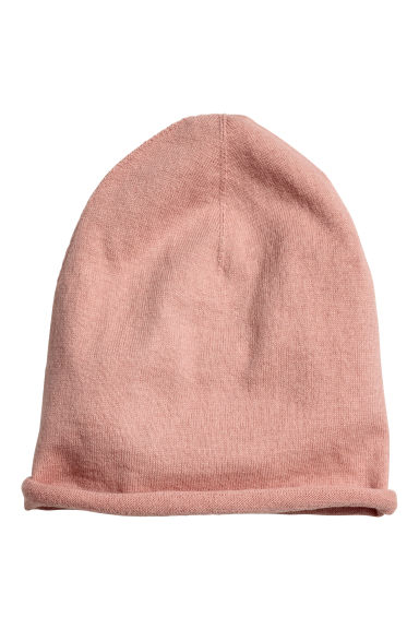 Fine-knit silk-blend hat - Powder pink - Kids | H&M CN
