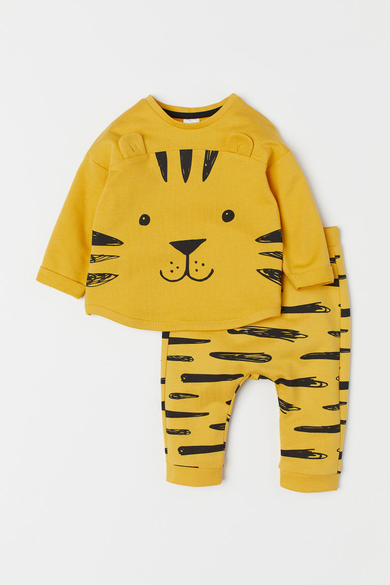 Top and trousers - Yellow/Tiger - Kids | H&M CN