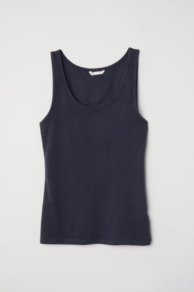 Jersey vest top - Dark blue - Ladies | H&M