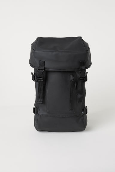 Rubber backpack - Black - Men | H&M CN