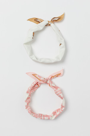 2-pack Scarves/Hairbands