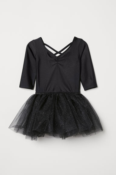 Dance dress with a tulle skirt - Black - Kids | H&M