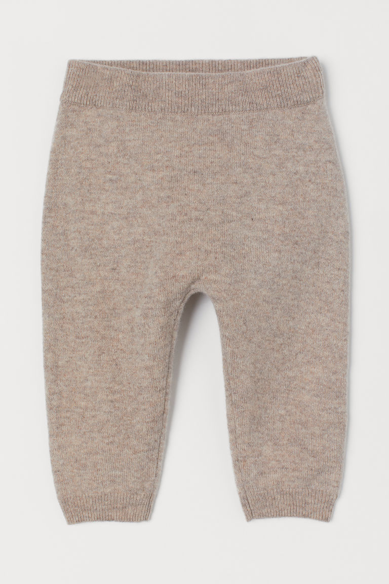 Cashmere trousers - Beige marl - Kids | H&M