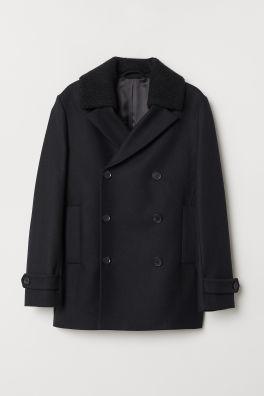 7ea31c81a Wool-blend Pea Coat