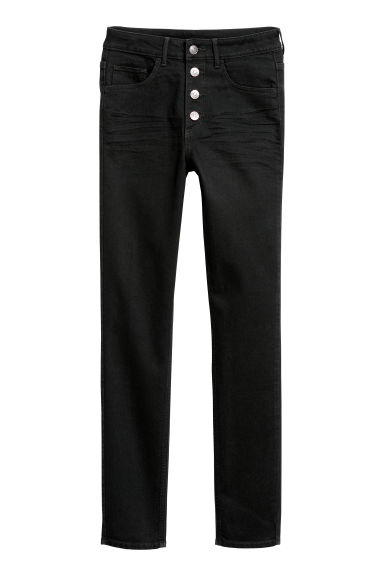 Skinny High Ankle Jeans - 黑色 - Ladies | H&M CN