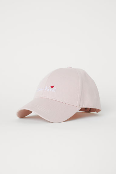 Cotton twill cap - Powder pink -  | H&M