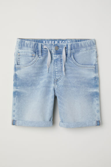 Super Soft denim shorts - Light blue - Kids | H&M CN
