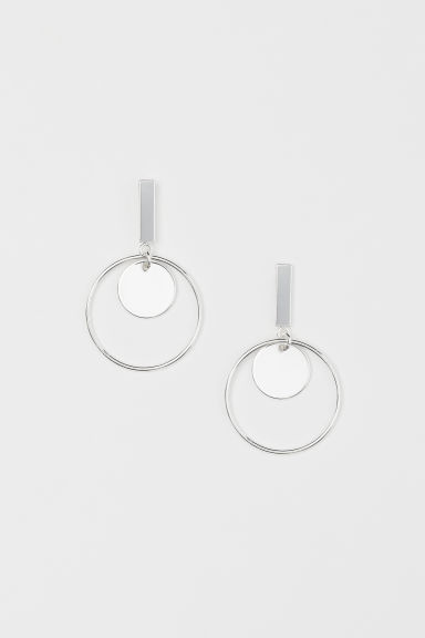 Hoop earrings - Silver-coloured - Ladies | H&M GB