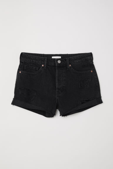 Shorts in denim - Nero/Trashed -  | H&M IT