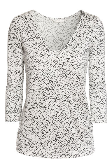 MAMA Nursing top - Natural white/Spotted -  | H&M CN
