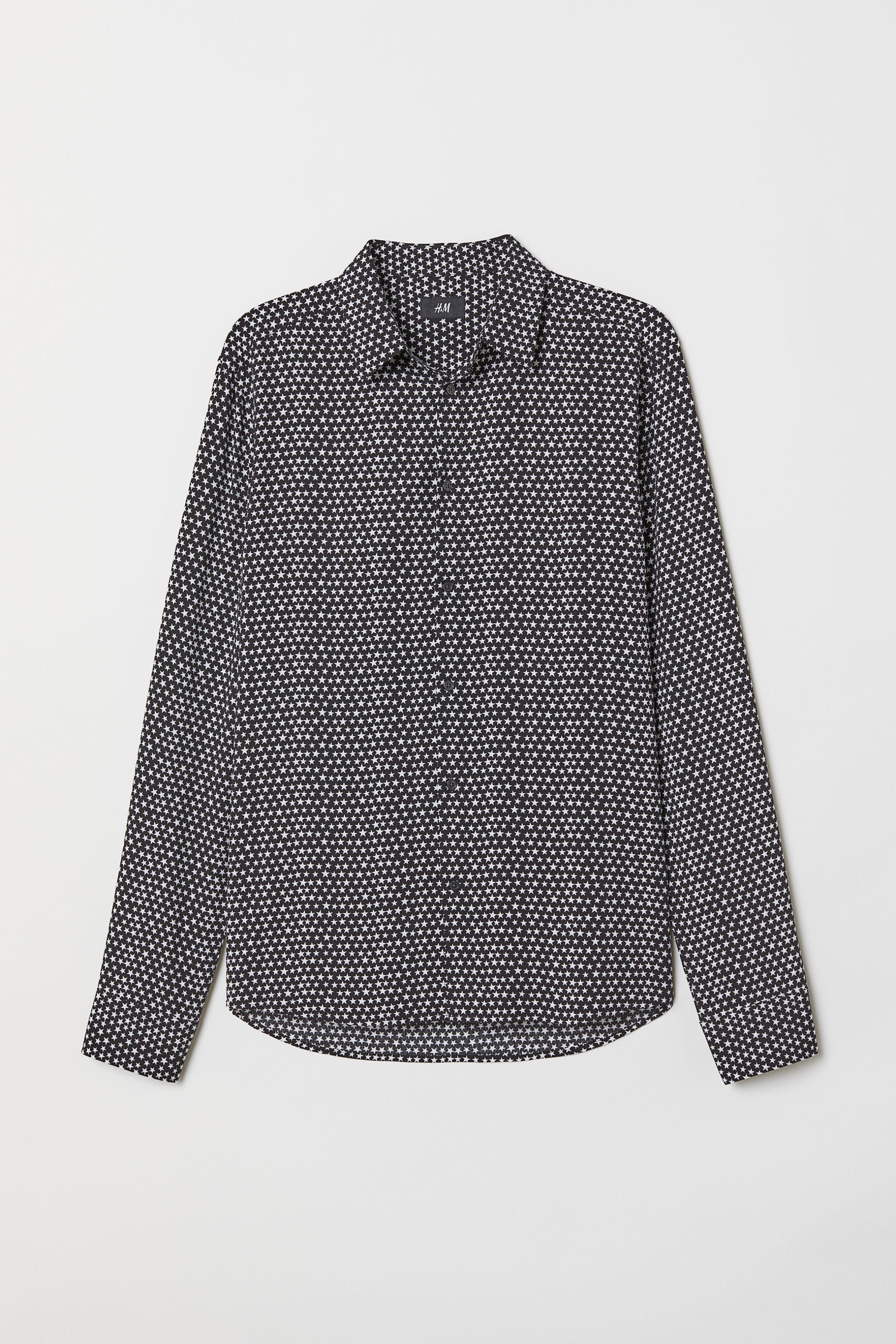 8eb23e59 Slim Fit Patterned Shirt - Black/floral - Men   H&M US