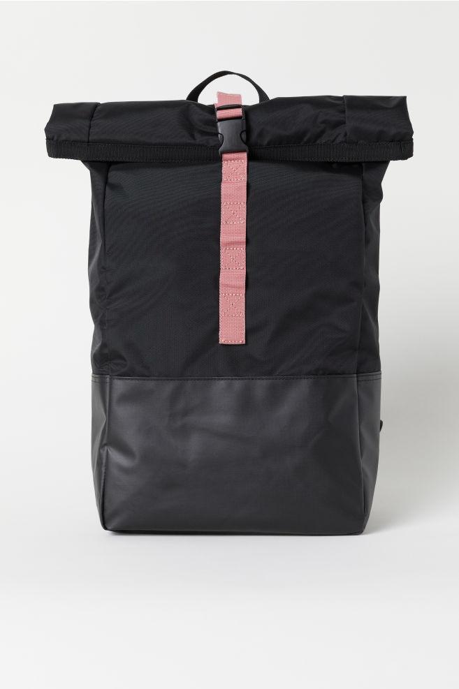 581e0499e3 Zaino con apertura roll-top - Nero - DONNA | H&M IT 1