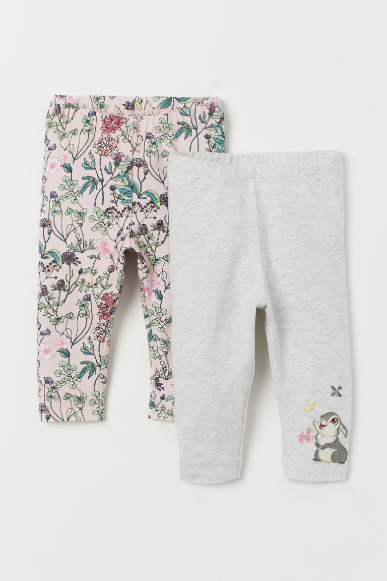 2-pack leggings - Light pink/Bambi - Kids | H&M