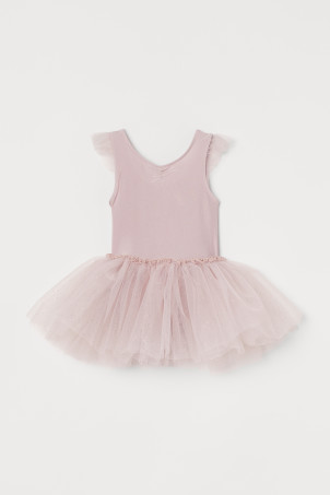 Dance leotard with tulle skirt