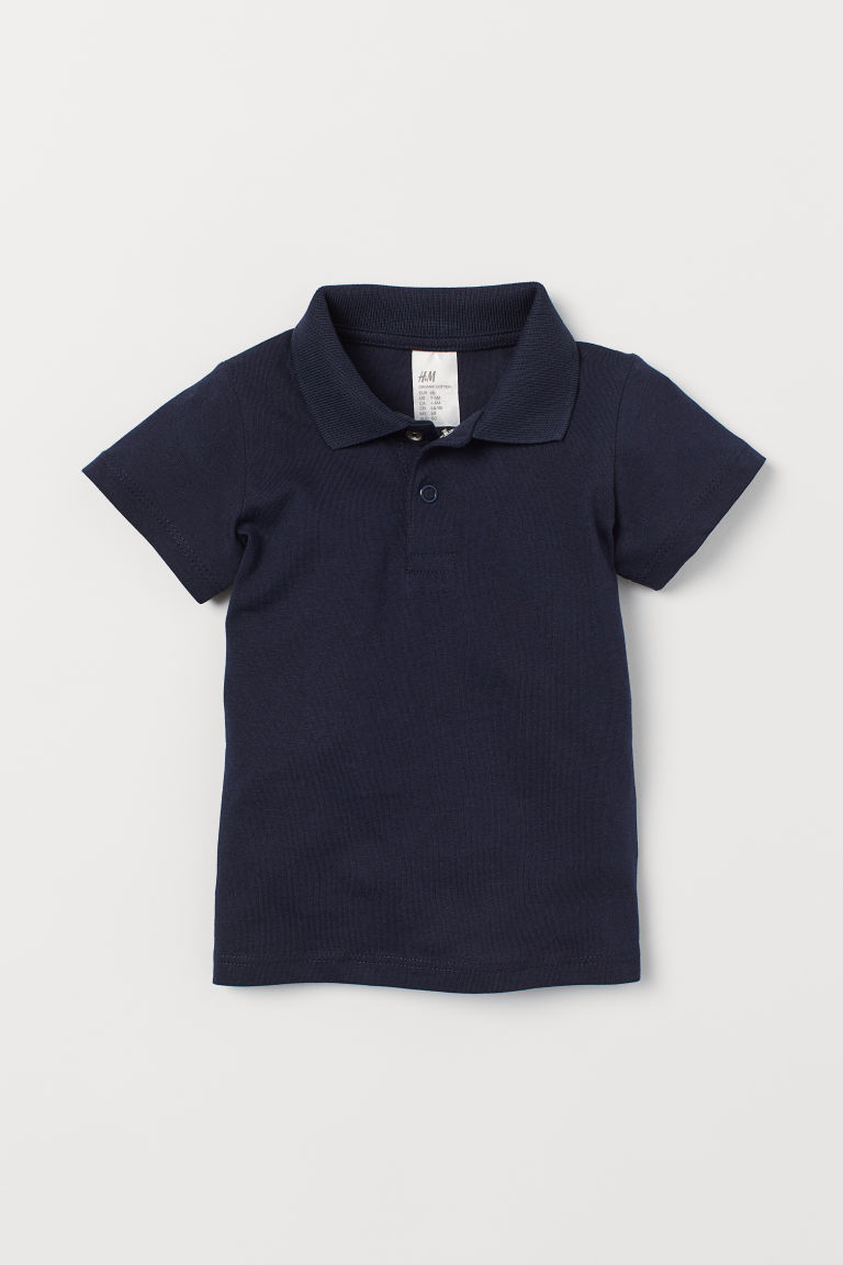 Polo in cotone - Blu scuro - BAMBINO | H&M IT