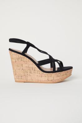 d96035c6297 Sandaletten met sleehak