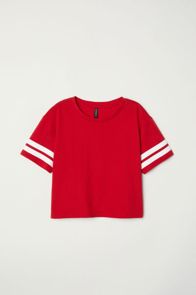 Short T-shirt - Red - Ladies | H&M