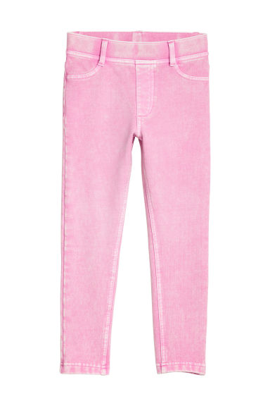 Sturdy jersey leggings - Pink washed out -  | H&M