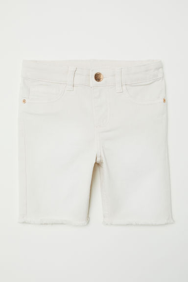 Long denim shorts - Beige -  | H&M CN