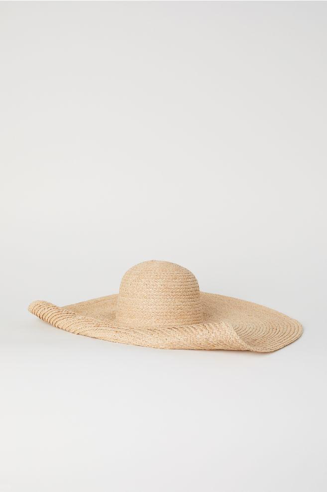 Sombrero grande de paja - Natural - MUJER  6530139c0fb