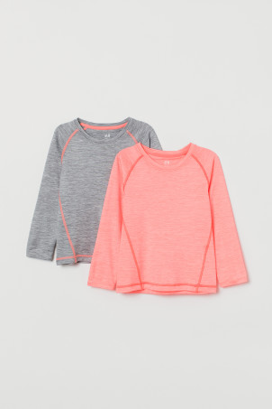 2-pack long-sleeve sports tops