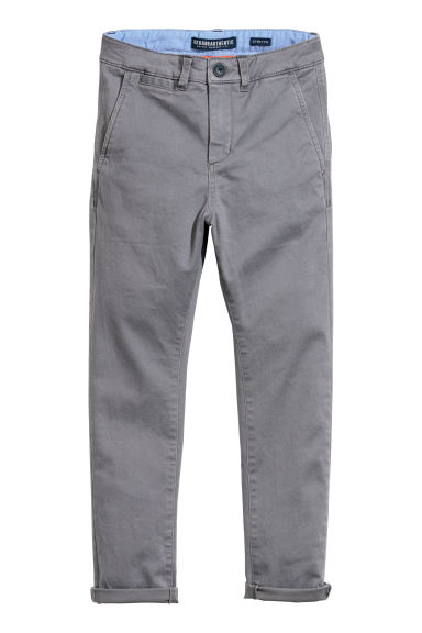Slim Fit Chino - Koyu gri -  | H&M TR