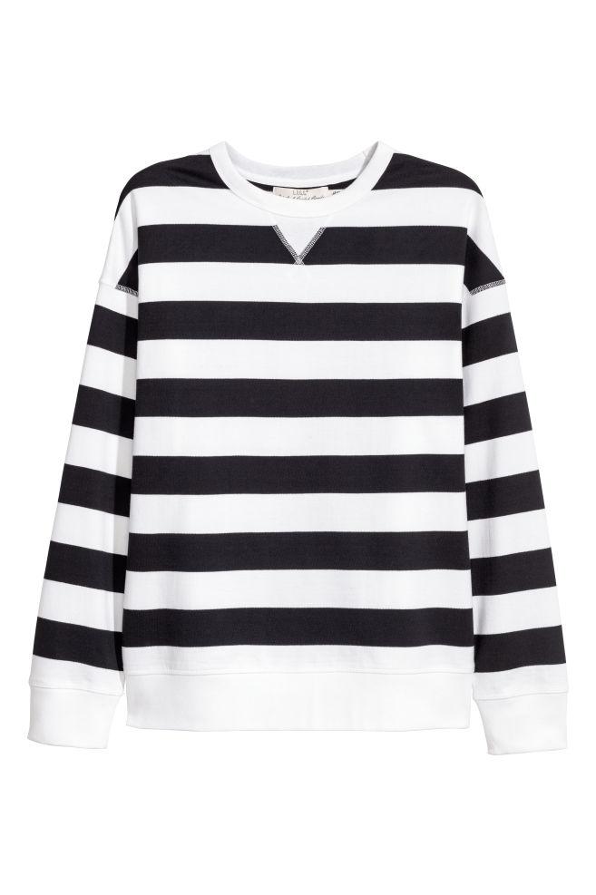 c470968c9aa8 Sweatshirt - Dark blue White striped - Men