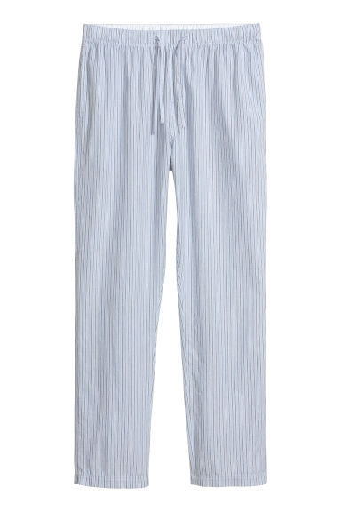 Pajama Pants - Light blue/white striped - Men | H&M CA
